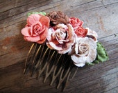 Rose Hair Comb, Dusty Rose Hues Wedding, Special Occasion