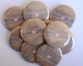 Set of 10 Kraft Bridesmaid Buttons- CUSTOMIZABLE