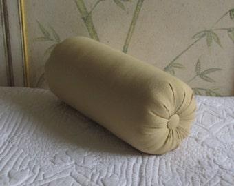 maize cotton duck bolster pillow 14 x 6