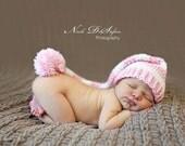 Stocking Elf Long Tailed Crochet Hat Infant-Toddler Customizable