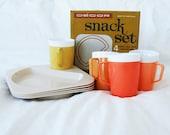 Vintage Retro Decor Snack Set - complete, unused and in box