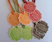 thanksgiving tags give thanks fall harvest turkey day fall colors green brown red orange rustic vintage