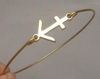 Sagittarius Style 3-personalized Zodiac Constellation bangle bracelet - November December Birthday