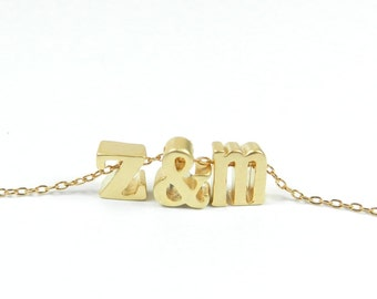 Loveletters Necklace. Silver and/or gold.