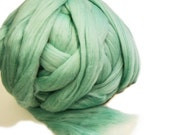 Felting Wool, Merino Wool, Wool Tops Peppermint Green, Wet Felting Wool, Needle Felting Wool