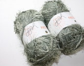 Two Skeins Of Green Fiesta knitting Yarn