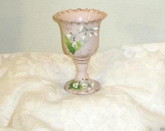 Lefton Hand-Painted Porcelain Mini Vase  c1950