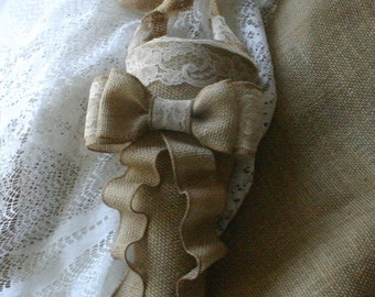 Burlap wedding cones, Wedding cones
