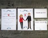 Custom Acorn Wedding Invitation Set: Printable