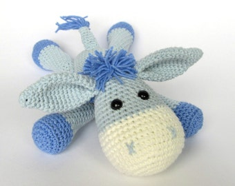 Donkey Ruda - Amigurumi Crochet Pattern / PDF e-Book / Stuffed Animal Tutorial