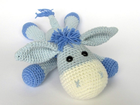 Free Crochet Pattern Stuffed Animals : Donkey Ruda Amigurumi Crochet Pattern / PDF e-Book / Stuffed