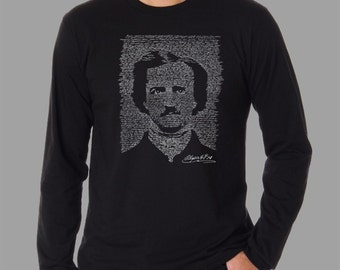 Men's Long Sleeve T-Shirt - Created using the full text to Edgar Allen Poe - The Raven