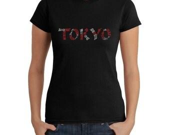 Women's T-shirt - Created using the The Neighborhoods of Tokyo