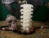 Small Spine White Beeswax Candle
