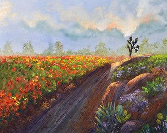 Poppy Road, Limited Edition fine art print 8 x10