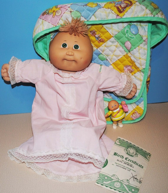 Cabbage Patch Preemie with Diaper bag, Birth Certificate, and poseable Cabbage Patch