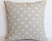 "CLEARANCE!!! PAIR of Gray, Blue and Orange Modern Dots Pillow Cover - 18"" x 18"" Decorative Pillow Cover"