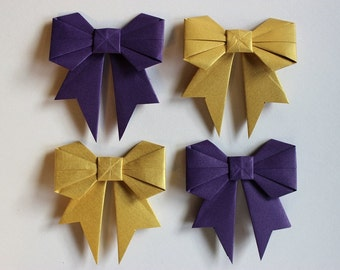 Gift Bow - Origami Bow - Set of 4