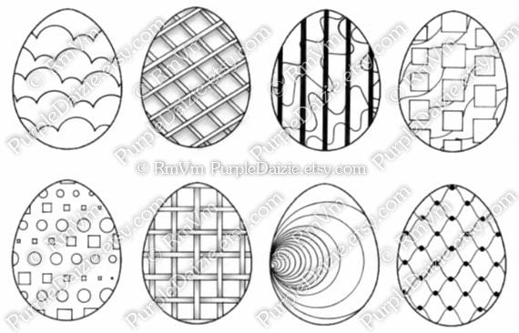 abstract easter egg coloring pages - photo#24
