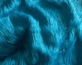 "20""x18""  Mongolian Faux Fur - Dark Turquoise Baby Nest Photo Prop."