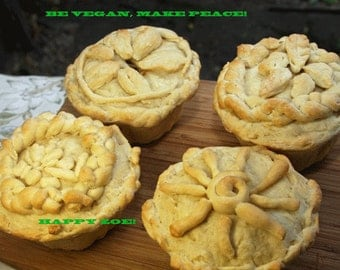 Vegan Chicken Baby Pot Pies with Vegan Mozarella Cheese, Love,Dinner,Lunch,Wedding,Birthday.