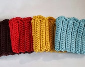 Crochet Boot Cuffs Boot Toppers Boot Socks-- You choose the color!