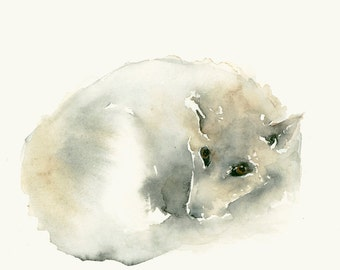 Wolf Art Watercolor Print