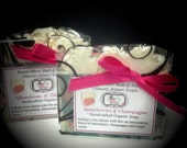 Strawberries and Champagne Natural Soap with Shea, Coconut Milk, Silk, and More.