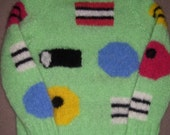 Womens soft mohair LIQUORICE ALLSORTS  jumper green round neck..40% off all items