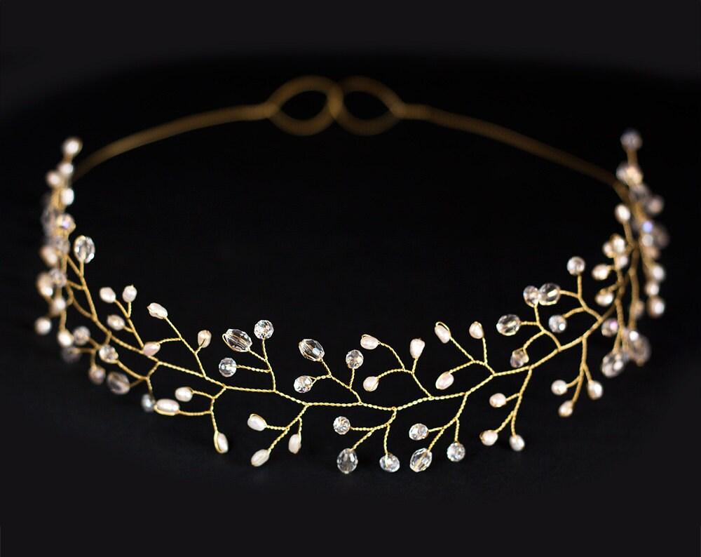 12bridal tiara wedding tiara wedding crown gold tiara zoom junglespirit Gallery