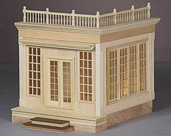 Scale One Inch Dollhouse Miniature Conservatory Kit, Scale One Inch
