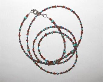 "SALE 32"" Necklace Czech Seed Bead Wrap Bracelet Anklet Handmade Indian Hippie Boho Southwestern Jewelry Accessory Women Teen Birthday Gift"