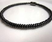 Magnetic Hematite Bracelet Unisex Domed Magnetic Bracelet, Anklet, Necklace, or Pet Collar