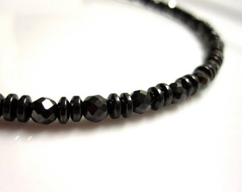 Magnetic Hematite Black Diamonds Bracelet