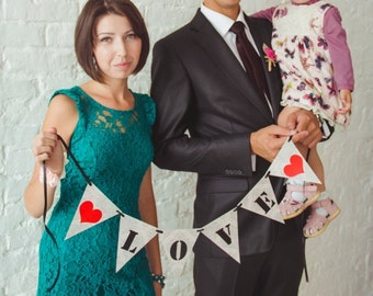 Love Wedding Banner - Wedding Garland - Wedding Decor