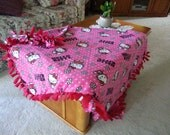 Beautiful Handmade Hello - Kitty Blanket 49 X 63