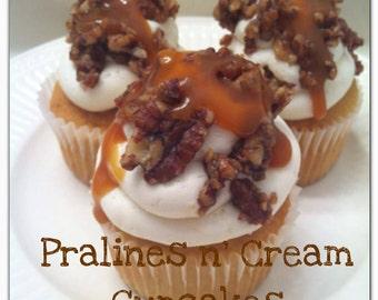 Pralines n' Cream Cupcakes