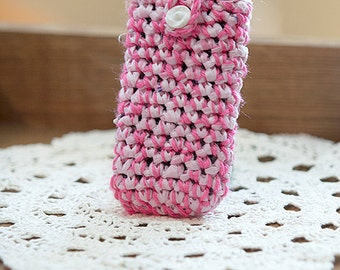 Phone Cozy, Gifts for Her, Pink Phone Case, Cellphone Sleeve, Smartphone Case , Stocking Stuffer, Secret Santa, Galaxy Android, Phone Pouch