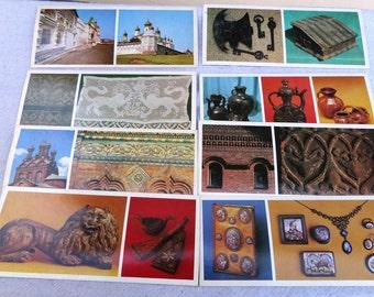 Set of 8 old vintage travel cards