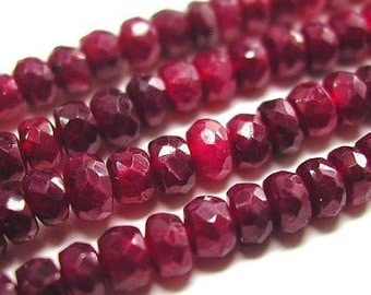 Red Ruby Beads 3 to 8 Pieces 6mm Natural Precious Loose Faceted Gemstones Strand Pigeon Blood Take 10% Off Bridal Jewelry Supplies Sale