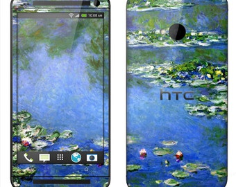 HTC One M7 M8 Case Decal Skin Cover - Monet Water Lilies