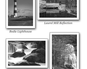 Greeting Cards 5x7 with Black and White Artwork