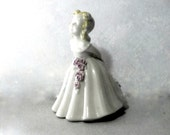 Vintage Porcelain Statue Southern Belle, Porcelain Figurine, Perfect Pastels Florals Nursery Photo Prop Little Girl Decor