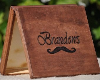Personalized Rustic Groomsman Gift-Father's Day- Cigar Box