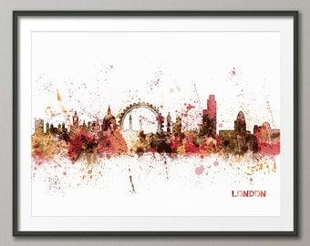 London Skyline, London Cityscape England, Art Print (483)