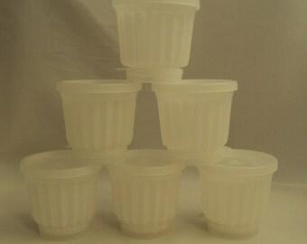 Vintage Tupperware Jell-O Gelatin Frozen Dessert Custard Molds Set of 6