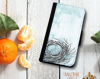 Robin's Egg In A Nest Wallet.  Available for iPhone 4/4s, 5/5s, 5c, 6/6s or 6+/6s+