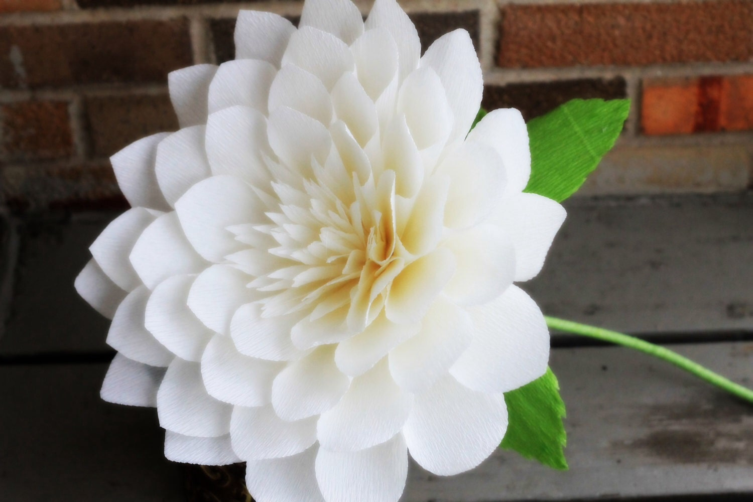 Large paper dahlia giant paper flower giant dahlia by ...