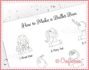 How to Make a Ballet Bun PDF Print - Educational Activity - Dance