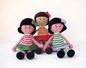 PDF Doll Crochet Pattern - Primitive doll, Cute Doll, Crocheted  Toy, DIY tutorial